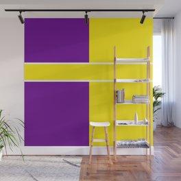 Team Colors 6....Yellow,purple Wall Mural