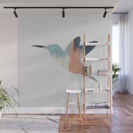Pastel Hummingbird Wall Mural