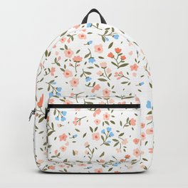 Cute floral pattern. Small flowers. Backpack