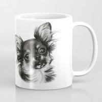 chihuahua Mugs featuring Chihuahua by Danguole Serstinskaja