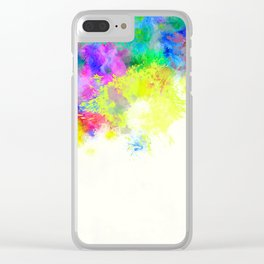 Paint Splashes Clear iPhone Case