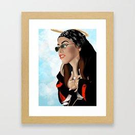 Aaliyah Framed Art Print
