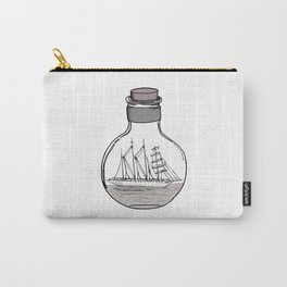 the ship in the bulb . illustration . Carry-All Pouch