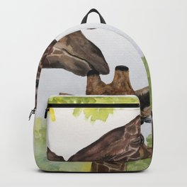 Giraffe Love by Maureen Donovan Backpack