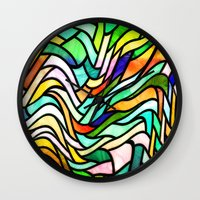 stained glass Wall Clocks featuring Stained glass by haroulita