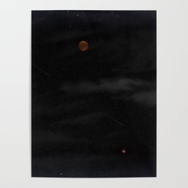 Blood Moon - Total Lunar Eclipse, Grand opposition of Mars, Southern Delta Aquarid meteor shower / c Poster