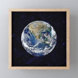 The Earth Framed Mini Art Print