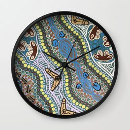 Walkabout out on Country Wall Clock