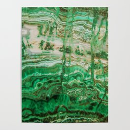 MINERAL BEAUTY - MALACHITE Poster