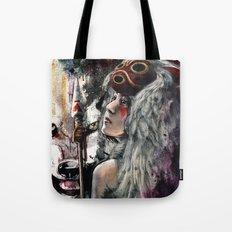 Mononoke San and The Spirit of the Wolf Tote Bag