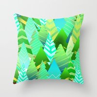 portland Throw Pillows featuring Portland by Maura McGonagle