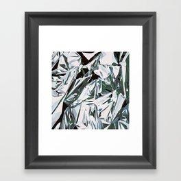 silver foil Framed Art Print
