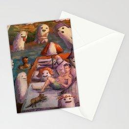 summer horror love Stationery Cards