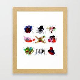 9 abstract rituals Framed Art Print