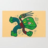 freddy krueger Area & Throw Rugs featuring Gumby Krueger by Artistic Dyslexia