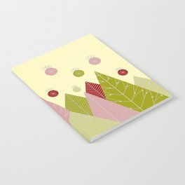 Trees and Ornaments Triangles and Circles Christmas Illustration Notebook