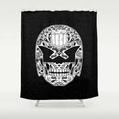 Day of the Dredd - Black Shower Curtain