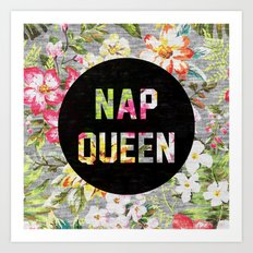 Nap Queen Art Print