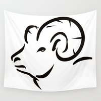 sheep Wall Tapestries featuring Sheep by Alexandr-Az