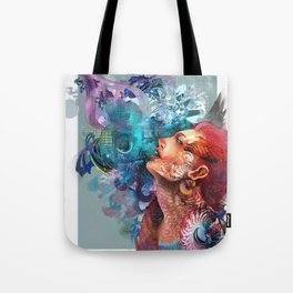 Looking into the sky Tote Bag