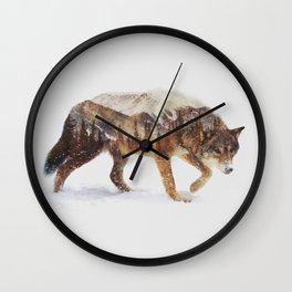 Arctic Wolf Wall Clock