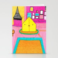 tenenbaums Stationery Cards featuring The Royal Tenenbaums Tent. by Alxndra Cook