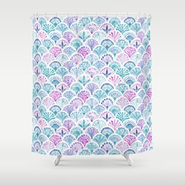 SHELL OUT Boho Mermaid Scales Shower Curtain
