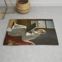 Young Woman Drawing - Marie Denise Villers Rug