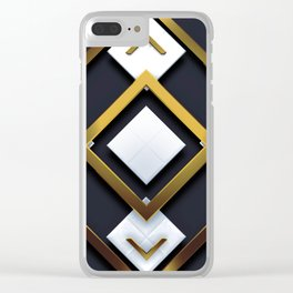 Light Dark and Gold 01 Clear iPhone Case