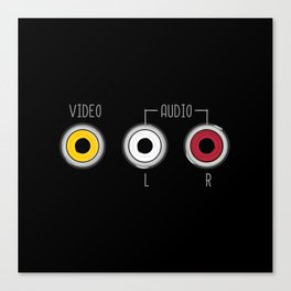 Plug in your mood! (Music + Video) Canvas Print