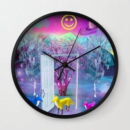Fox Family Wall Clock