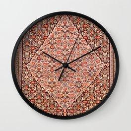 Sehna Kurdistan Northwest Persian Kilim Print Wall Clock
