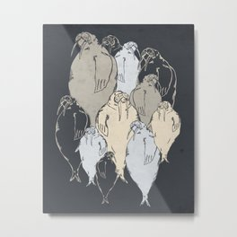 Walrus Pod Metal Print