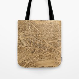 Vintage Pictorial Map of Dover NH (1877) Tote Bag