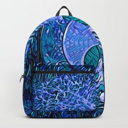 Tree of Life Yin Yang Blue Backpack