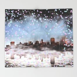 Silvesternacht Throw Blanket