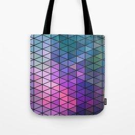 Purple Geometric Pattern Tote Bag