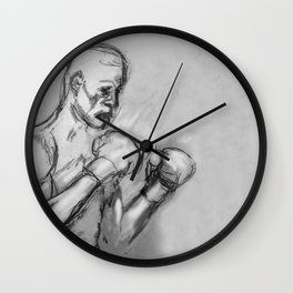 prizefighter sports boxing design Wall Clock