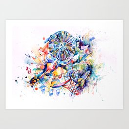 Happy Wheel Art Print