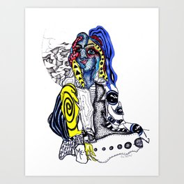 clusters and pretty girls Art Print