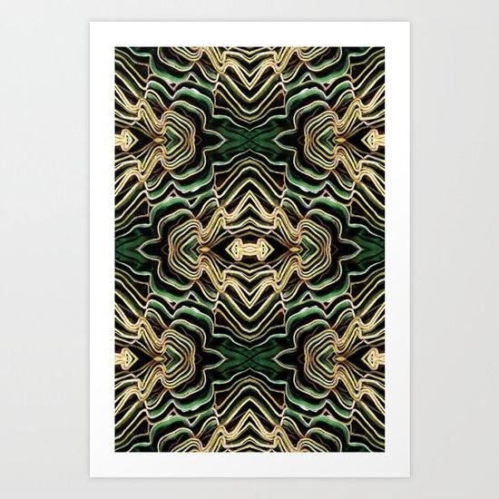 WAVY PALM Art Print