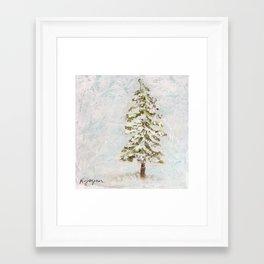 Evergreen Tree Painting Framed Art Print