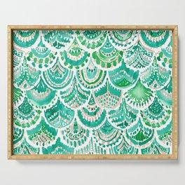 VENUS DE MER Green + Blush Mermaid Scales Serving Tray