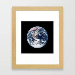 Apollo 17 - Iconic Blue Marble Photograph Framed Art Print