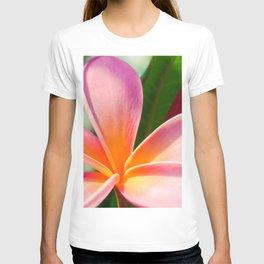 Pua Melia ke Aloha Pink Tropical Plumeria Maui Hawaii T-shirt