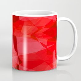 Mottled Red Poinsettia 1 Ephemeral Abstract Polygons 2 Coffee Mug