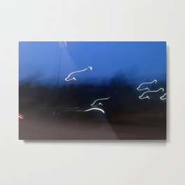 DOLPHINS OF LIGHTS Metal Print