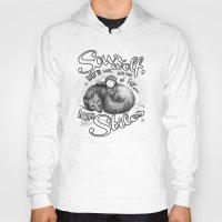 stiles Hoodies featuring Sterek Sleepy Wolf & Stiles III by siny