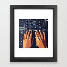 HB DJ Nails Framed Art Print