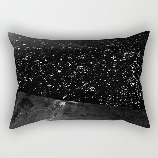 Moon Rising in the dark Black and White Rectangular Pillow